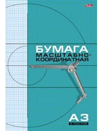 Бумага масштабно-координ А3 8л ГОЛУБАЯ