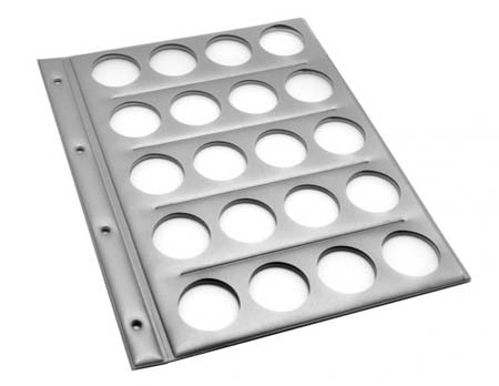 Монетница-планшет (20монет) 230х300мм с перфорац