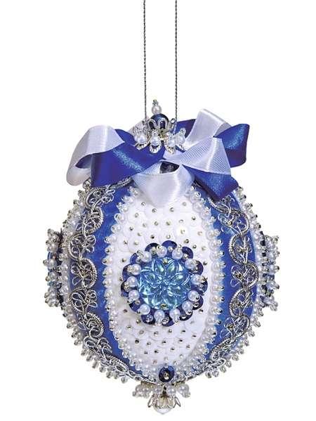 Набор из пайеток Новогодний шар.Царский синий