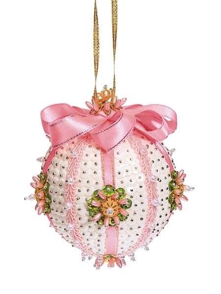 Набор из пайеток Новогодний шар.Нежность розовый