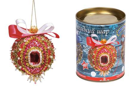 Набор из пайеток Новогодний шар.Кардинал Ришелье