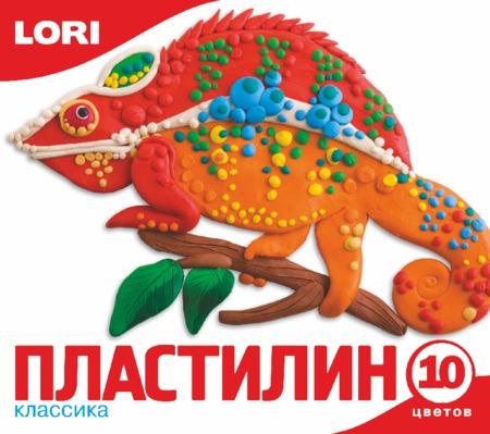 Пластилин 10цв (ЛОРИ)