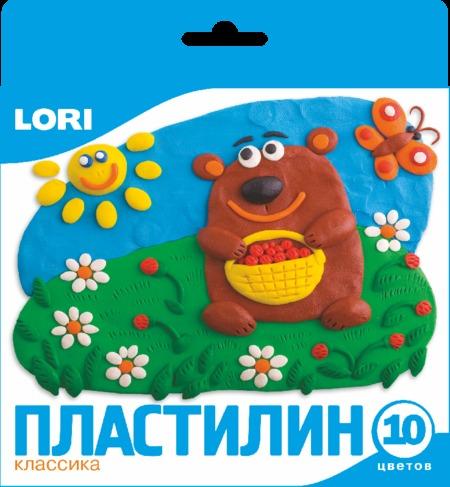 Пластилин 10цв ЛОРИ (европодвес)