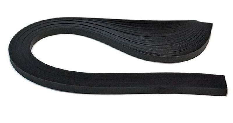 Бумага-квиллинг (3мм) Чёрный бархат, 150пол