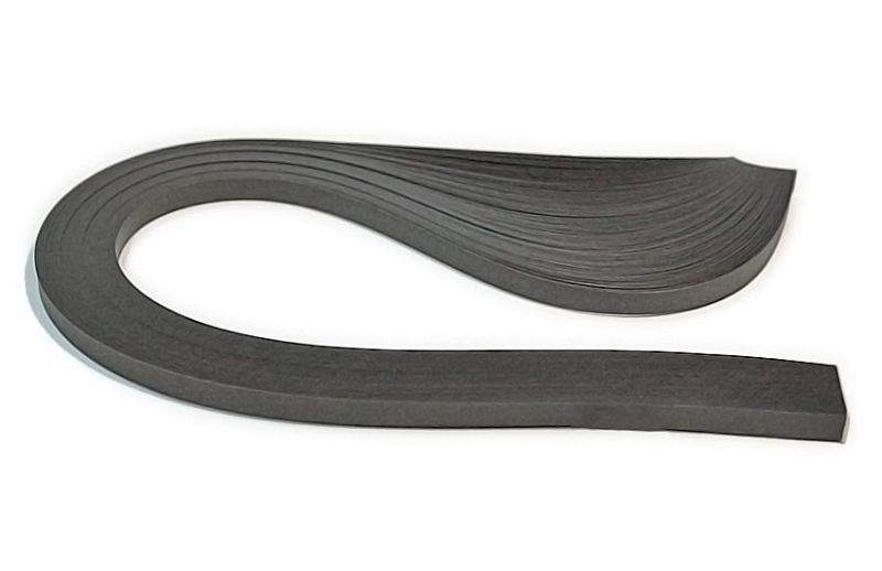 Бумага-квиллинг (10мм) Тёмно-серый, 150пол