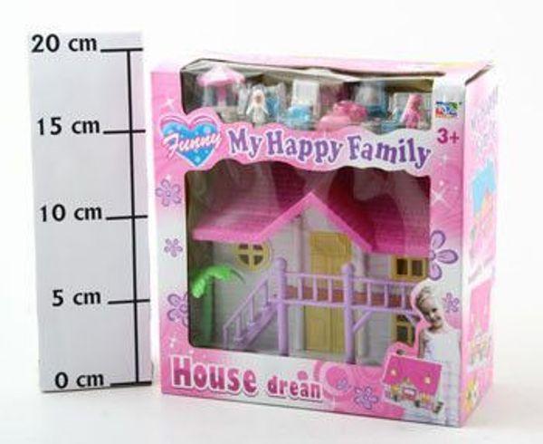 Дом для куклы с мебелью 18х18х7см