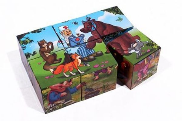 Кубики 6шт «В гостях у сказки»