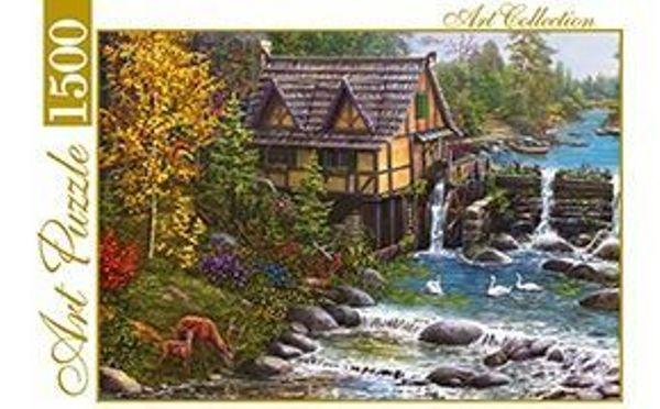 Пазлы 1500эл «Мельница у горной реки»