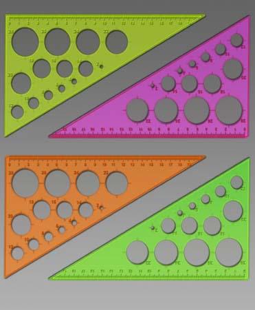 Треугольник 30/19см Пласт (окруж) флюор 4 цв СТАММ