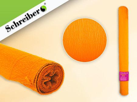 Цв бумага крепиров 50х250см Ярко-оранжевый цвет