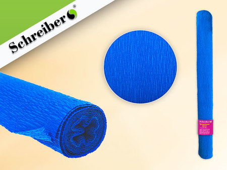 Цв бумага крепиров 50х250см Синий цвет