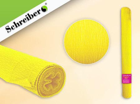 Цв бумага крепиров 50х250см Лимонный цвет