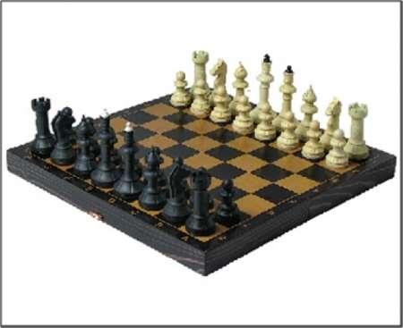 Шахматы Айвенго с деревянной шахматной доской
