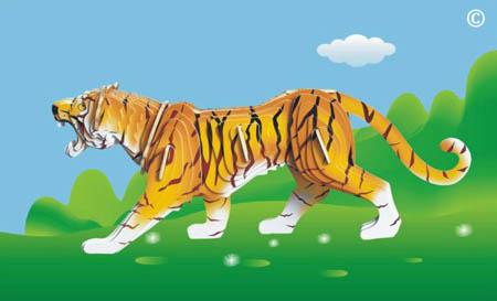 Сборн Дерев Модель Тигр