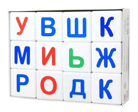 Кубики 12шт Учись играя.Азбука