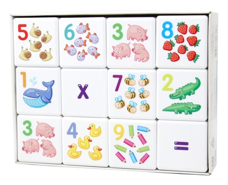 Кубики 12шт для умников.Арифметика