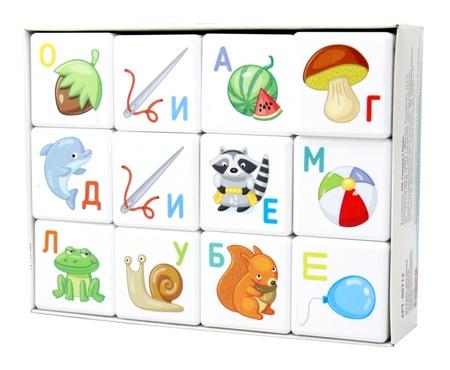 Кубики 12шт для умников.Азбука