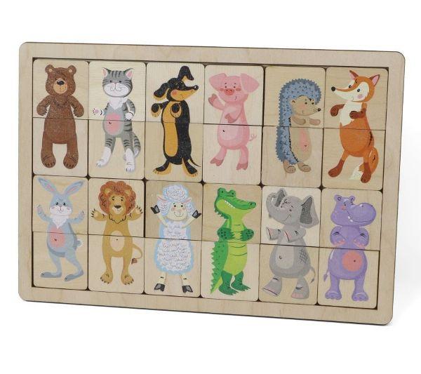 Игра деревянная развивающая «Зоопарк»