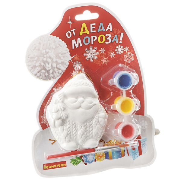Набор д/творчества Елочные украшения Дед Мороз на карте Шапка Д.Мороза