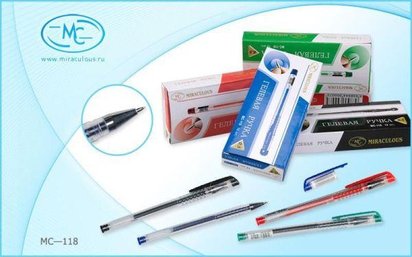 Ручка гелевая 0,5мм ЧЕРНАЯ прозрачный корпус