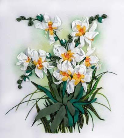 Набор д/вышив Л+М «Белые орхидеи»