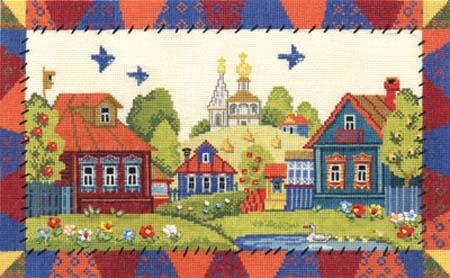 Набор д/вышив Л+М «Деревня Лужайкино»