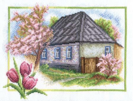 Набор д/вышив М «Весна в деревне»