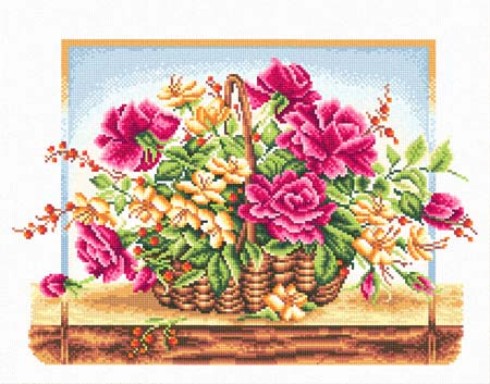 Набор д/вышив М «Корзина с розами»