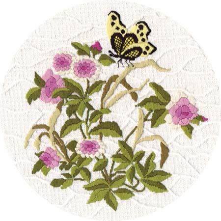 Набор д/вышив М «Садовая бабочка»