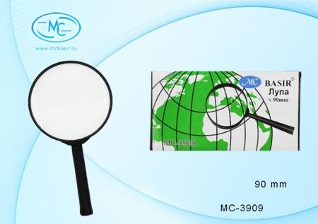 Лупа канцелярская, d=90мм круглая