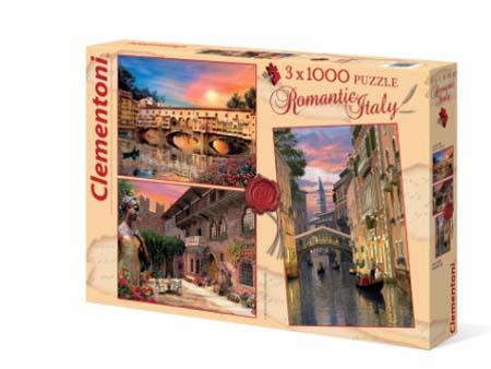 Пазлы 1000эл «Романтическая Италия» (3 картин)