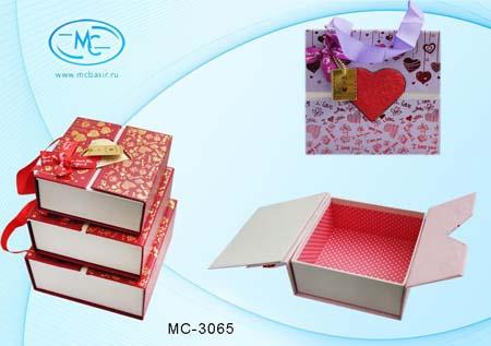 Набор подароч коробочек 3 в 1 «I Love you»