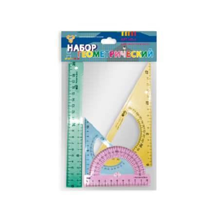 Набор геометр большой 4пред