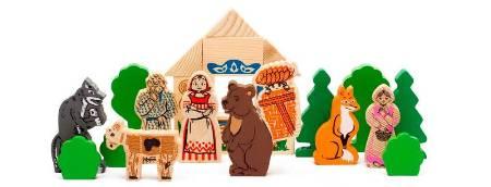 Конструктор Аленушкины сказки — Маша и Медведь, Смоляной Бычок, Аленушка и Лиса