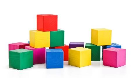 Кубики Деревян 20шт «Цветные»