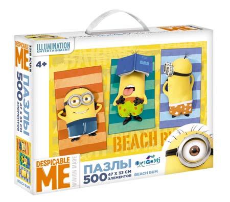 Пазлы 500эл «Minions.Beach bum» (чемод.)