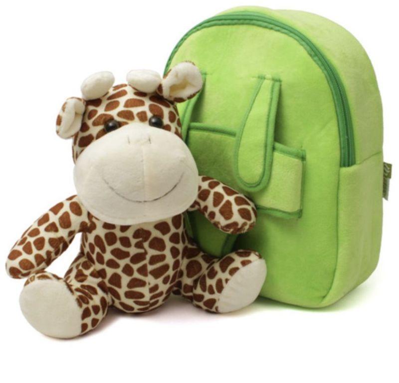 Рюкзак детский 26х21х8,5см Жирафик