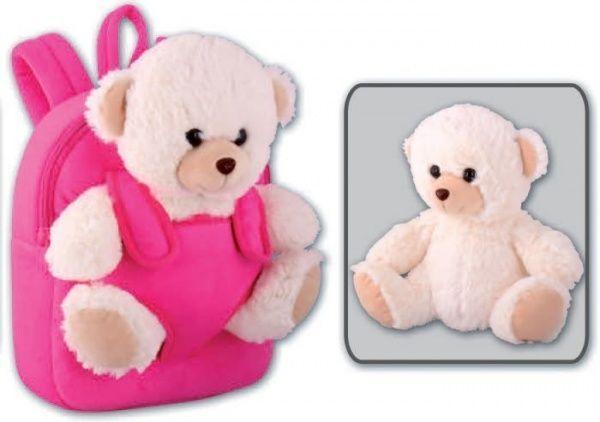 Рюкзак детский 26х21х8,5см Белый мишка