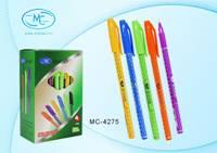 Ручка шариковая 0,7мм Синяя масл цветной яркий корпус