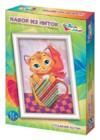 Плетение нитками по гвоздикам «Сладкий котик»