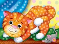 Картина из кристаллов 10х15см Игривый котенок (19цв)