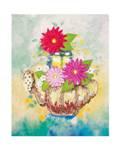 Мозаика из пайеток на холсте «Чаепитие»
