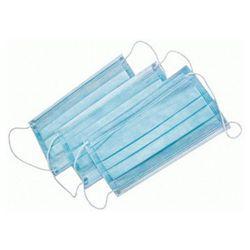 Медицинская маска (трехслойная, синяя)