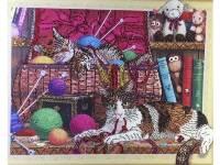 Картина из кристаллов 40х50см Игривые котята.