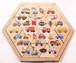 Пазл деревянный Занимательные треугольники. Транспорт