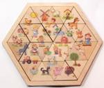 Пазл деревянный Занимательные треугольники.Ферма