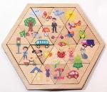 Пазл деревянный Занимательные треугольники. Мир вокруг