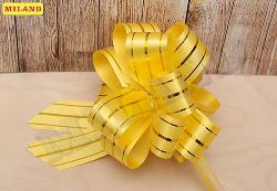 Бант-шар 3см Золотые линии. Желтый