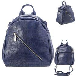 Рюкзак молодежный 26х26х15см синий, искусственная кожа Action!