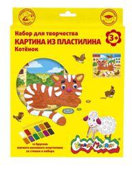 Картина из пластилина Котенок восковой пластилин 12 цветов